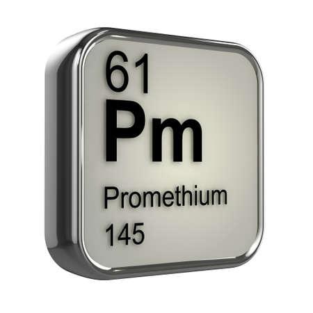 isotopes: 3d render of Promethium element design