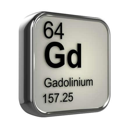 isotopes: 3d render of gadolinium element design