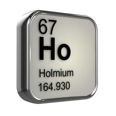 protons: 3d de dise�o elemento holmio