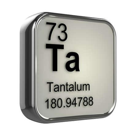 isotopes: 3d render of tantalum element design