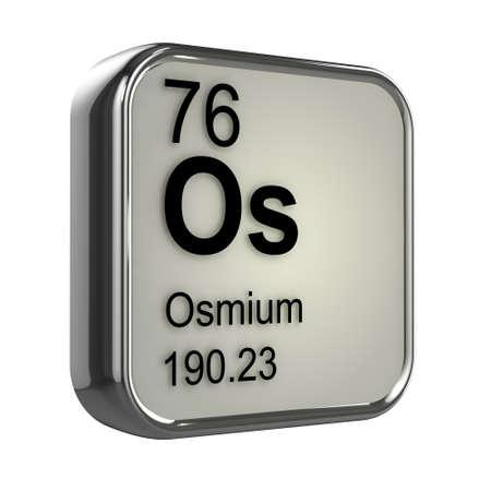 isotopes: 3d render of Osmium element design