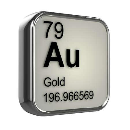 isotopes: 3d render of Gold element design