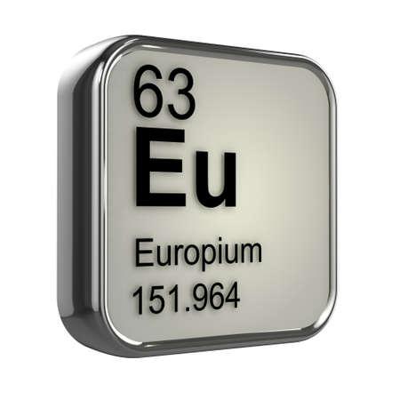 isotopes: 3d render of Europium element design