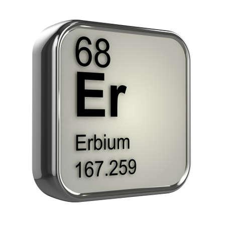 isotopes: 3d render of Erbium element design