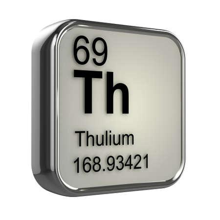 protons: 3d render of Thulium element design