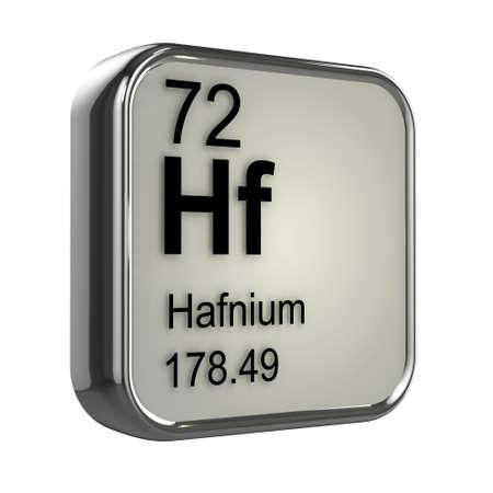 isotopes: 3d render of Hafnium element design