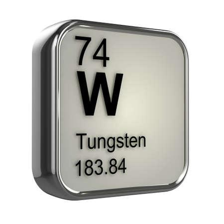 isotopes: 3d render of Tungsten element design