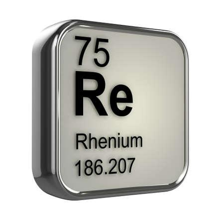 isotopes: 3d render of Rhenium element design