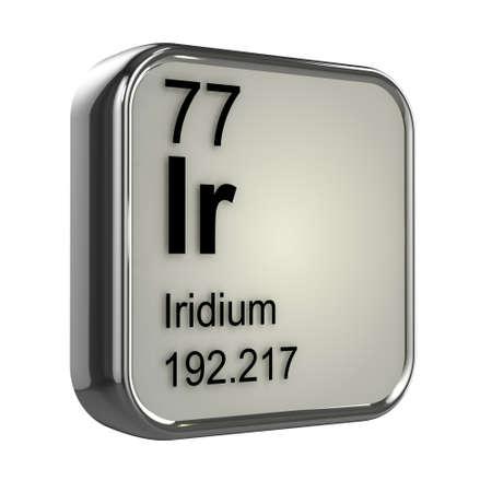 isotopes: 3d render of Iridium element design