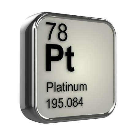 isotopes: 3d render of Platinum element design
