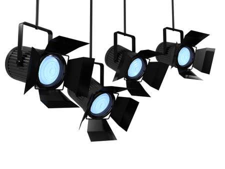studio lighting: 3d render of studio lighting equipment Stock Photo