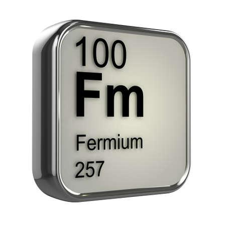 isotopes: 3d render of fermium element design