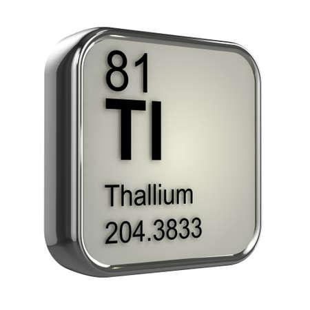 protons: 3d render of thallium element design
