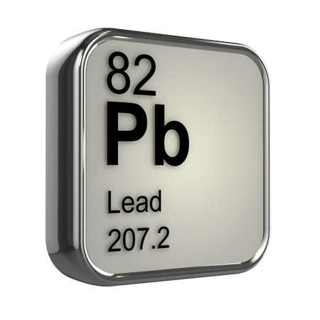 protons: 3d de dise�o de elemento de plomo