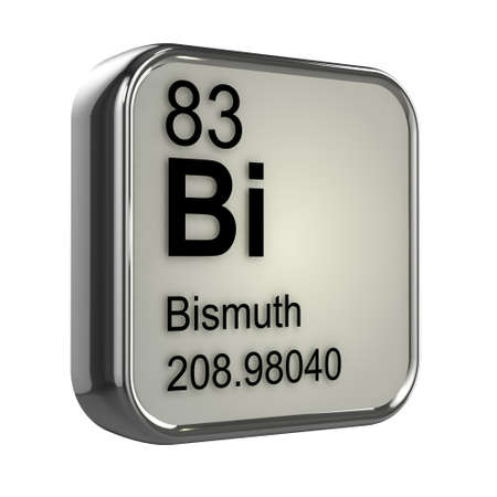 bismuth: 3d render of bismuth element