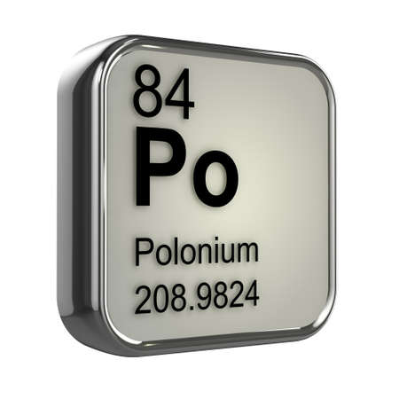 isotopes: 3d render of polonium element design