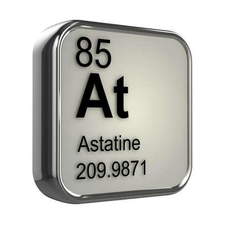 isotopes: 3d render of astatine element design