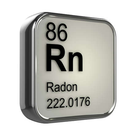radon: 3d render of radon element design Stock Photo