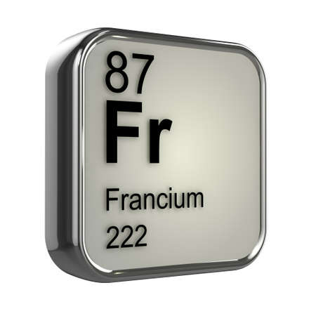 isotopes: 3d render of francium element design Stock Photo