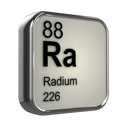 radium: 3d render of radium element design