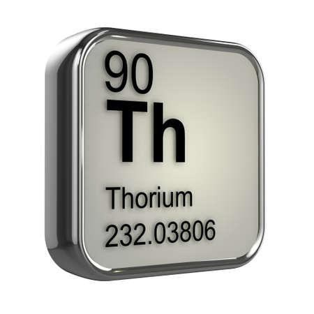 thorium: 3d render of thorium element design