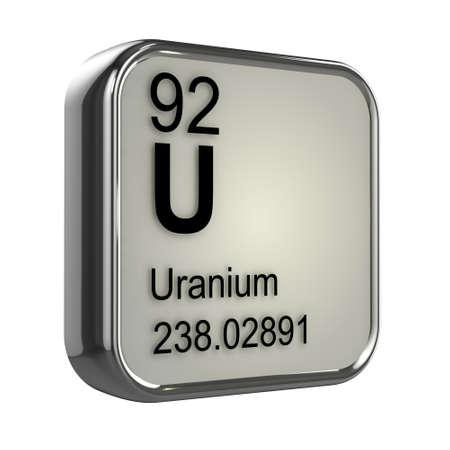 isotopes: 3d render of uranium element design