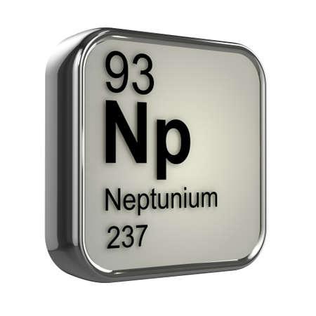 isotopes: 3d render of neptunium element design Stock Photo