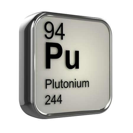 plutonium: 3d render of plutonium element design