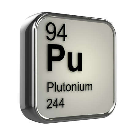 isotopes: 3d render of plutonium element design