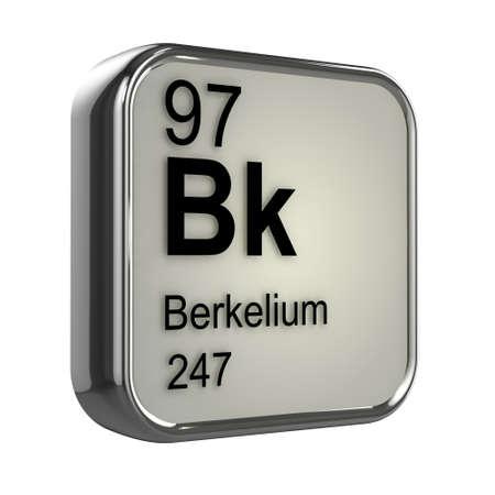 protons: 3d de dise�o elemento berkelium