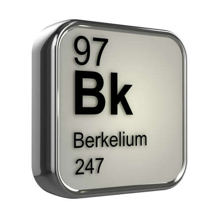 isotopes: 3d render of berkelium element design