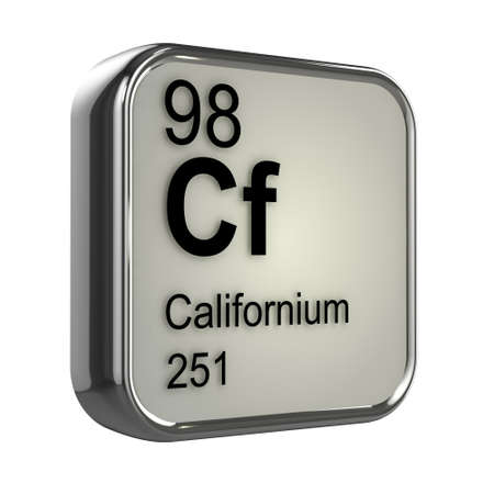 isotopes: 3d render of californium element design Stock Photo