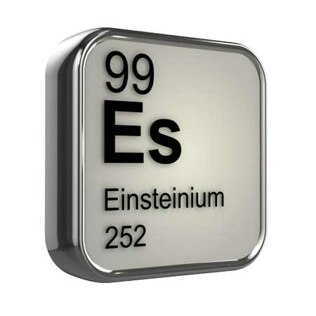 isotopes: 3d render of einsteinium element design Stock Photo