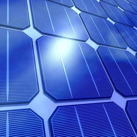 voltaic: 3d render of solar cells
