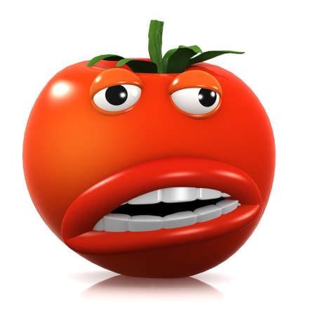 home grown: 3d render of a tomato looking strange.