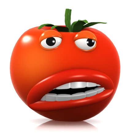3d weird: 3d render of a tomato looking strange.