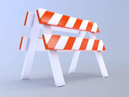 blockade: 3d render of a construction barrier