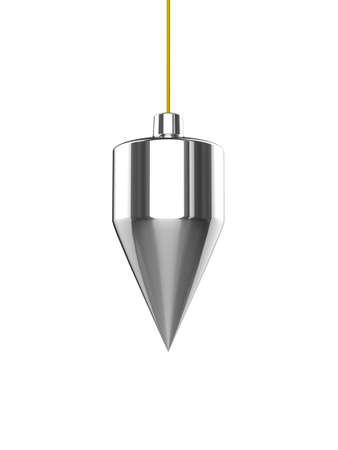 perpendicular: 3d render of a plumb line