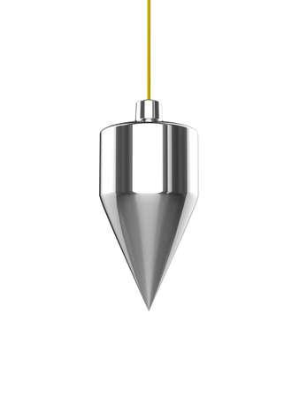 plumb: 3d render of a plumb line