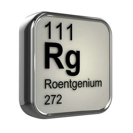 isotopes: 3d render of Roentgenium periodic table element design