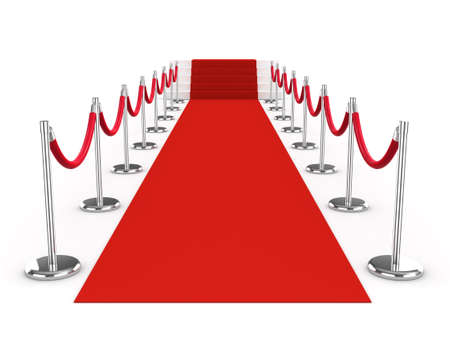 red carpet: 3d red carpet and ropes