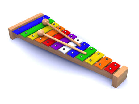 xylophone: 3d render of a xylophone
