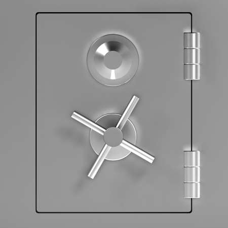 locked door: 3d render of a locked safe door Stock Photo