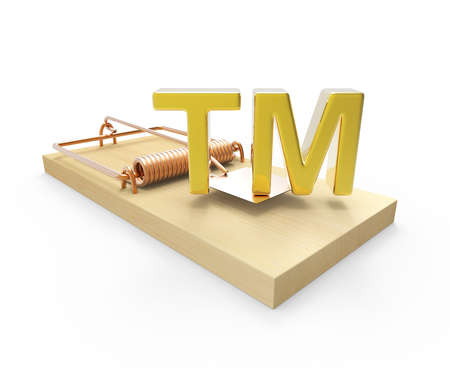 deceptive: 3d render of a mousetrap with theTrademark symbol