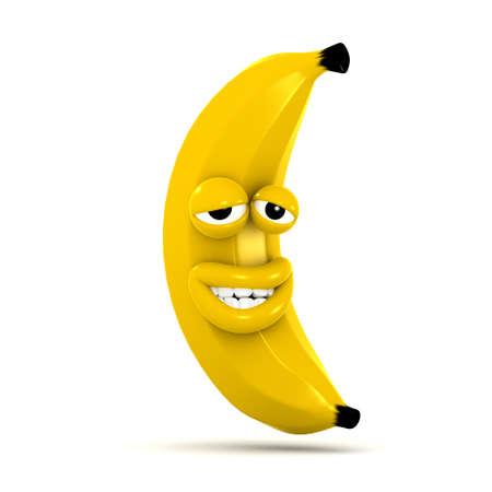 smug: 3d render of a banana looking very smug