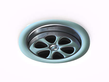 drain: 3d render of a plug hole drain Stock Photo