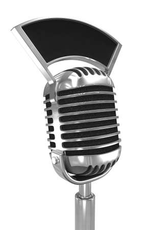 amplify: 3d render of an old radio microphone