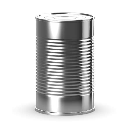 tin can: 3d render of a tin can Stock Photo