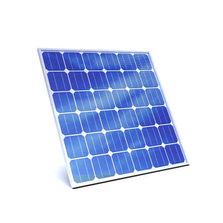 voltaic: 3d render of a solar panel Stock Photo