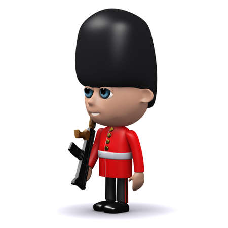 3d render of a Coldstream Guard side view